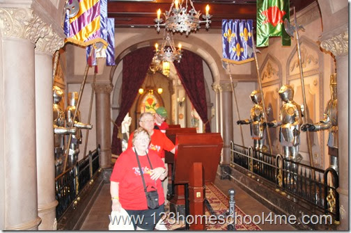 Ordering food form touch screens with menu pictures at Be Our Guest Restaurant