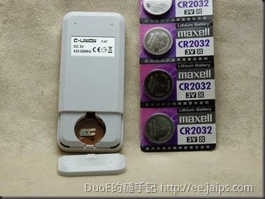 C-UNION創聯電子RF433遙控器CR2032電池