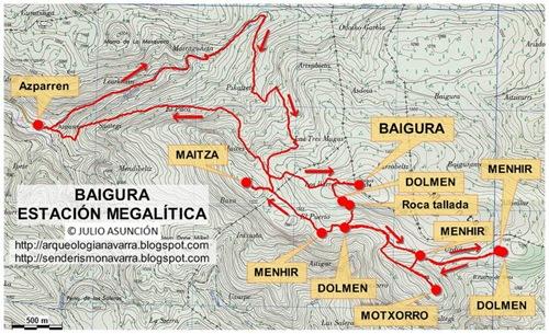 Mapa BAIGURA - Estación megalítica