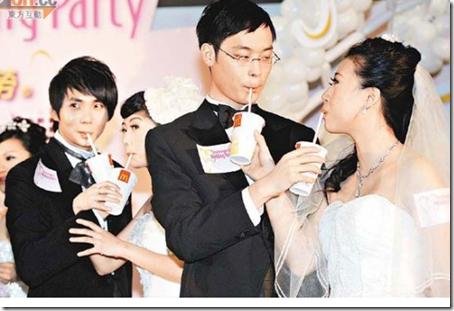 McDonald para celebrar una bodaS en Hong Kong