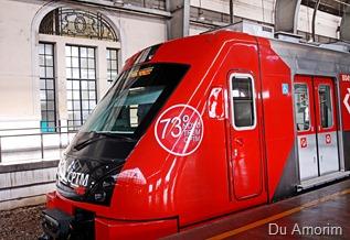 O Governador, Geraldo Alckmin, entrega 2 novos trens para a Linh