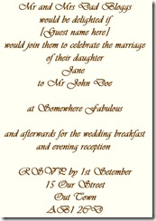 invite reception and ceremony