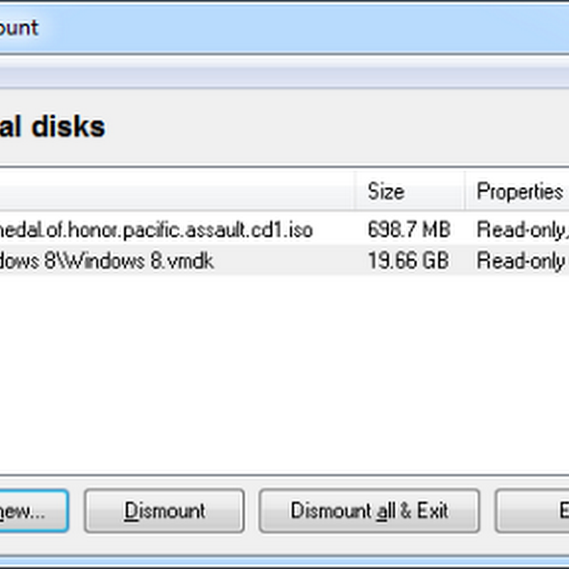 OSFMount: Mount Any Disk Image as Virtual Drive