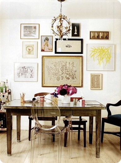 gallery-wall-in-office-lucite-office-chair