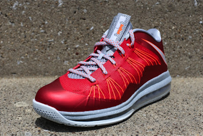 nike lebron 10 low gr ohio state 3 02 Release Reminder: Nike Air Max LeBron X Low University Red