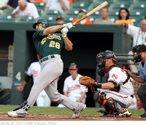 'Oakland Athletics right fielder Conor Jackson (28)' photo (c) 2011, Keith Allison - license: http://creativecommons.org/licenses/by-sa/2.0/