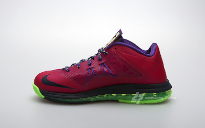 nike lebron 10 low gr purple neon green 3 01 Nike Air Max LeBron X Low Raspberry Official Release Date