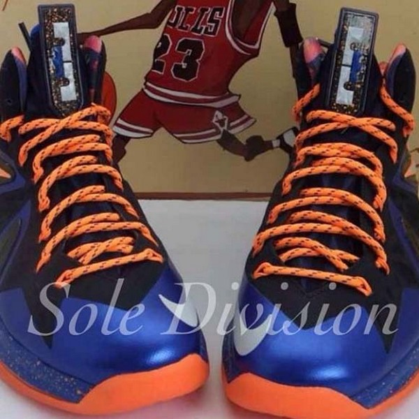 Another Teaser Showing Nike LeBron X PS Elite in Knicks8217 Colors ... 9771c77095