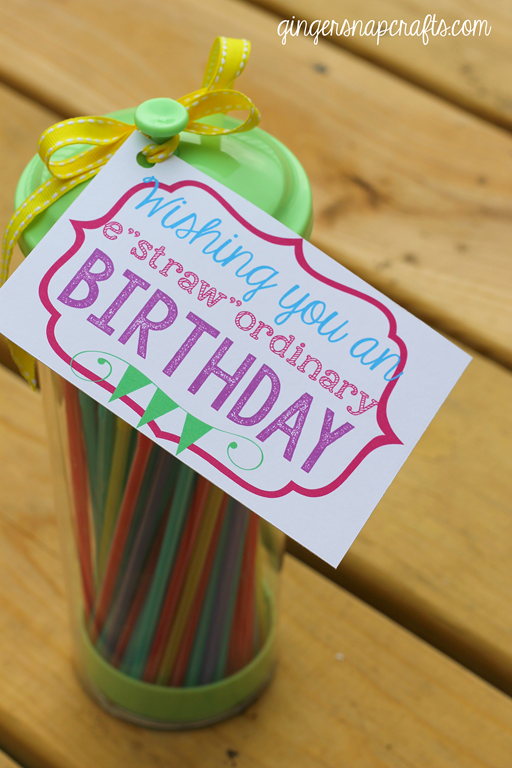 Estrawordinary Birthday Wishes Printable from GingerSnapCrafts.com