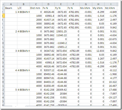 output excel