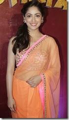 Actress Yami Gautham Hot Photos in Orange Saree