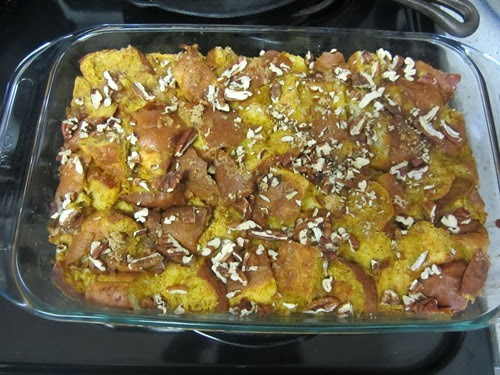 pumpkin brioche bread pudding 019