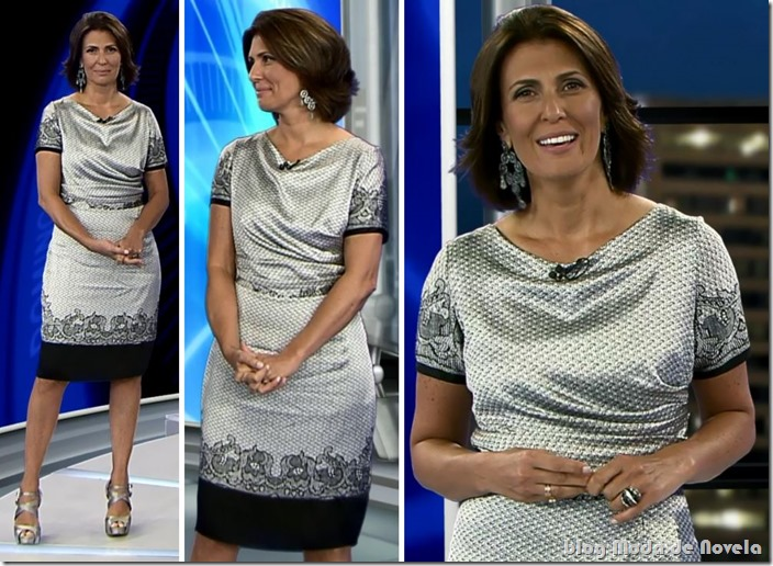 moda do programa domingo espetacular - janine  borba dia 09 de março de 2014