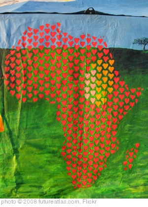 &#39;Africa in hearts&#39; photo (c) 2008, futureatlas.com - license: http://creativecommons.org/licenses/by/2.0/