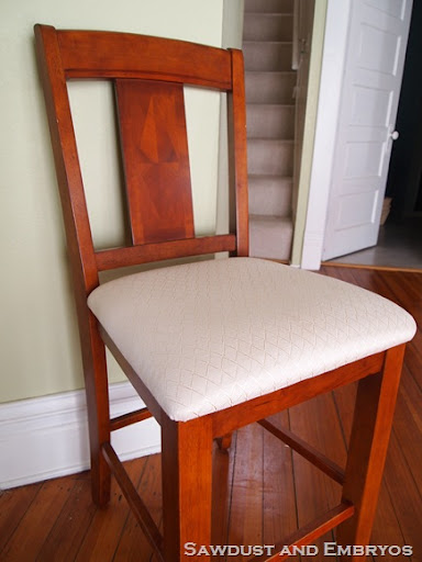 Off White Chairs Show Wear Quickly  Reupholstering Is A Great Option!