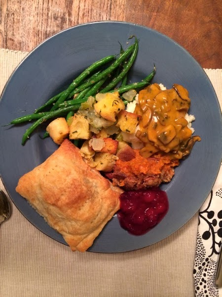 thanksgiving dinner vegetarian
