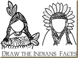 smallest-thanksgiving-drawing-indian-faces-printables