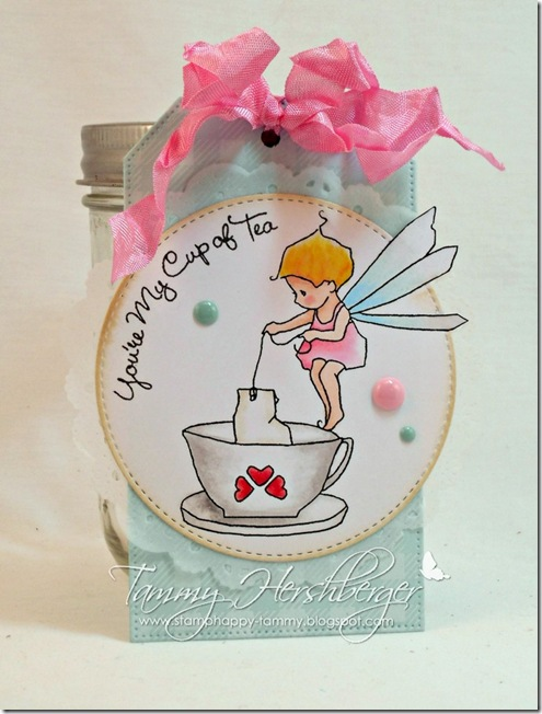 Tiny Teacup Fairy tag by Tammy Hershberger