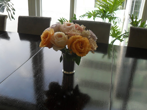 Here is one of the arrangements, there will be many on the table for the dinner parties.