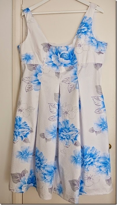 Blue and White floral dress5