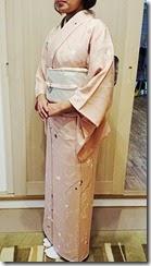 春色のお着物で卒園式に (1)