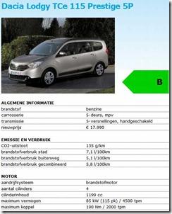 Dacia Lodgy Energielabel 01