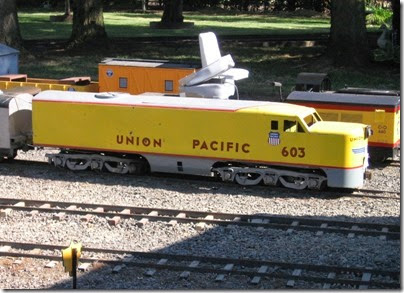 IMG_5173 Union Pacific PA1 #603 on the Willow Creek Railroad at Antique Powerland in Brooks, Oregon on July 31, 2010