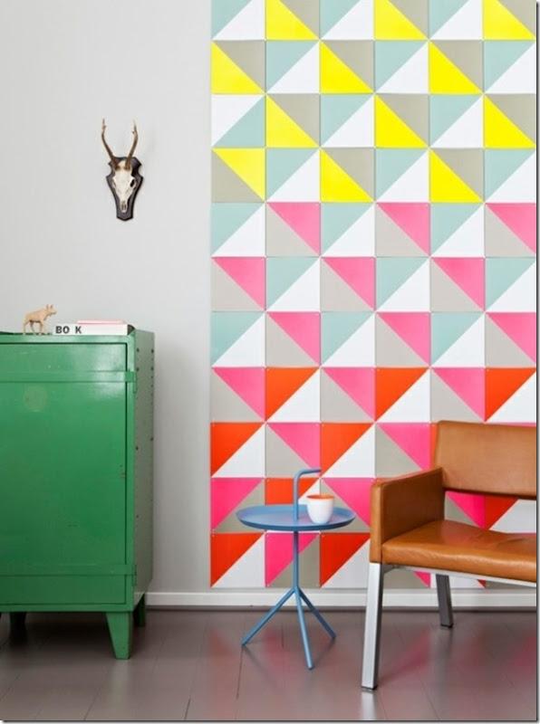 case e interni - tendenza decorazione  triangoli - Triangles 11