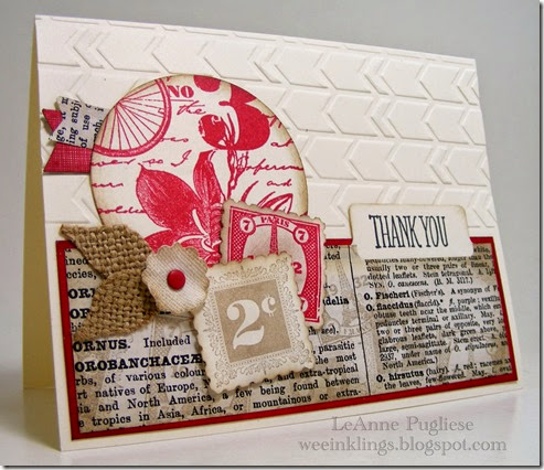 LeAnne Pugliese WeeInklings Paper Players 229 Postage Due Stampin UP