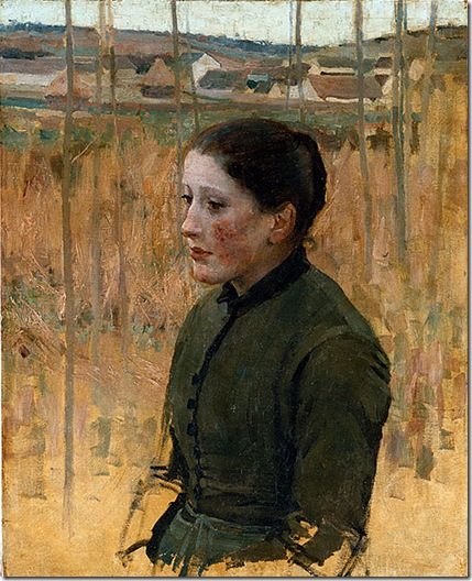 attributed to Jules BASTIEN-LEPAGE (Young peasant woman)