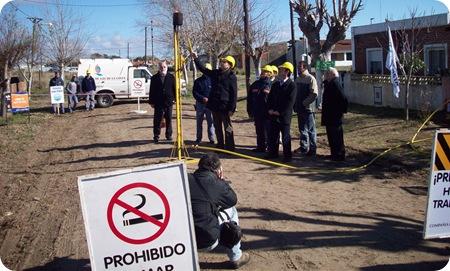 El Intendente Juan Pablo de Jesús inauguró extensión de red de gas en Las Toninas