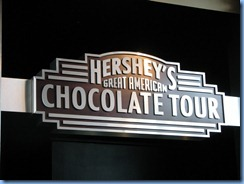 1980 Pennsylvania - Hershey, PA - Hershey's Chocolate Tour sign