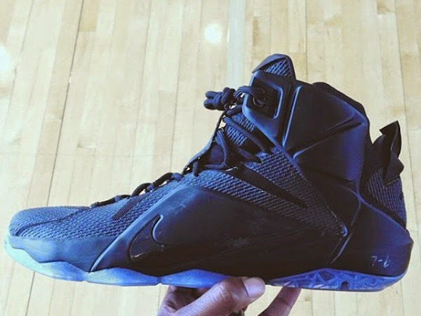 Nike LeBron 12 8220Triple Black8221 Sample 8211 New Look