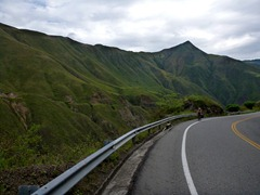Climbing through beautiful scenery on the way to Pasto, Colombia.