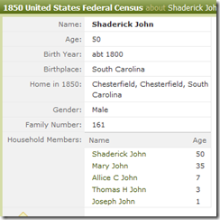 1850-Cfld, Johns, Shadrach