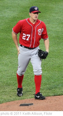 'Washington Nationals starting pitcher Jordan Zimmermann (27)' photo (c) 2011, Keith Allison - license: http://creativecommons.org/licenses/by-sa/2.0/