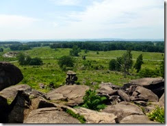 View from Little Round Top towards Devil's Den