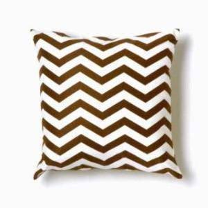 Zig Zag Pillow in Brown (wellappointedhouse.com)