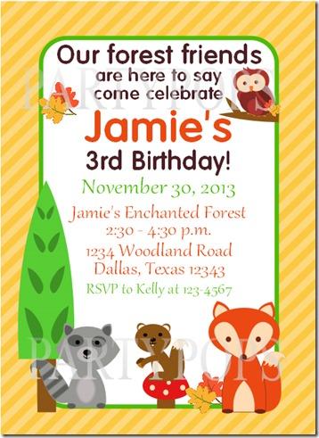 Woodland Invite