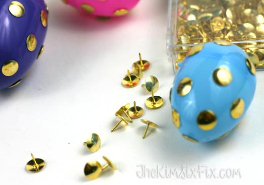 Thumbtack easter eggs