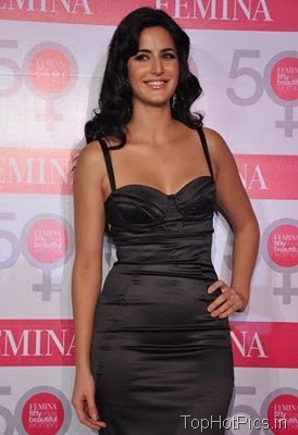 Katrina Kaif in Gorgeous Black Dress at Femina Launch 3