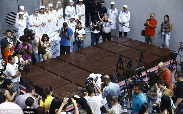 Armenia has the world's biggest chocolate bar