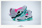 nike lebron 9 ps elite grey candy pink 9 35 sneakerbox LeBron 9 P.S. Elite Miami Vice Official Images & Release Date