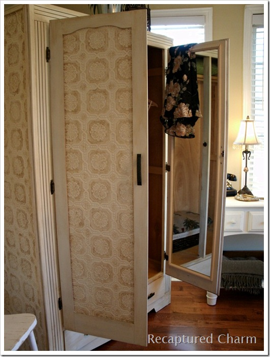 wallpapered armoire 067a