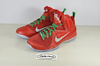 nike lebron 9 gr christmas 2 01 Throwback Thursday: Look Back at LBJs 2011 Christmas Shoes