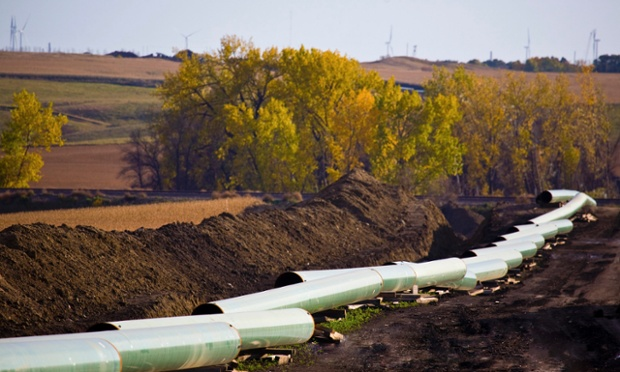 The Keystone Oil Pipeline is pictured under construction in North Dakota. The U.S. State Department issued a long-awaited draft environmental assessment of the Keystone XL pipeline project that would link Canada's oil sands to refineries in Texas, 1 March 2013. Photo: Reuters
