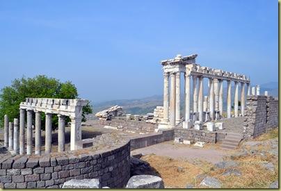 Pergamon Temple of Trajan View