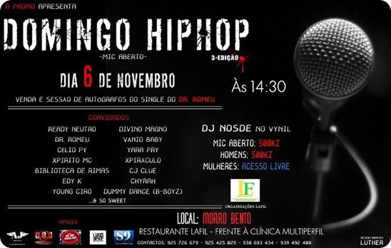 Domingo Hip Hop - Mic Aberto