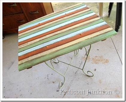 recycled materials make functional table