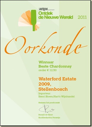 Oorkonde Waterford Chardonnay